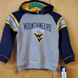 NCAA West Virginia Mountaineers Hoodie Boys M